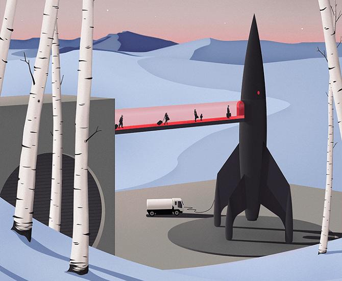 From Kiruna intospace