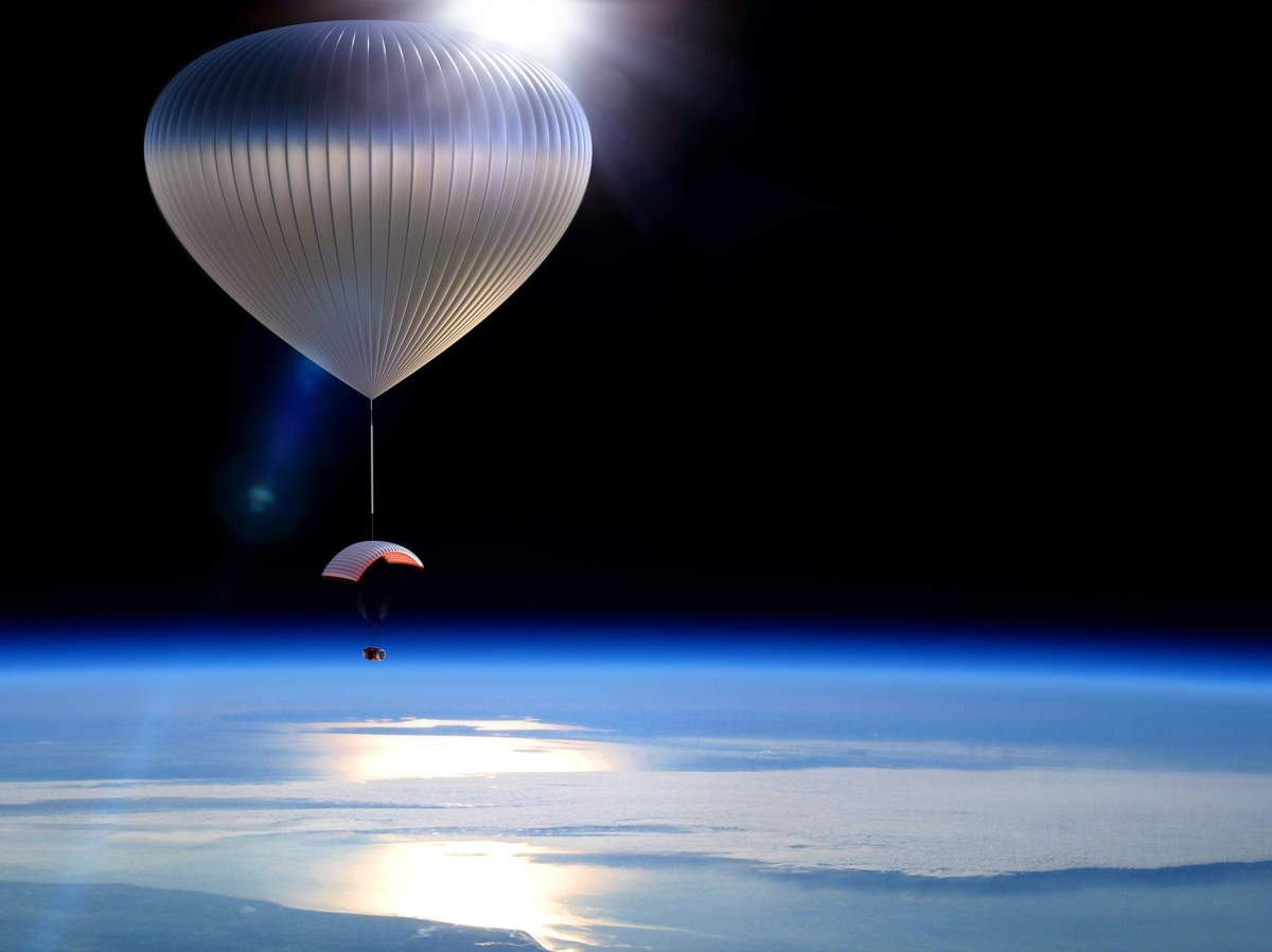 Going to space under a heliumballoon