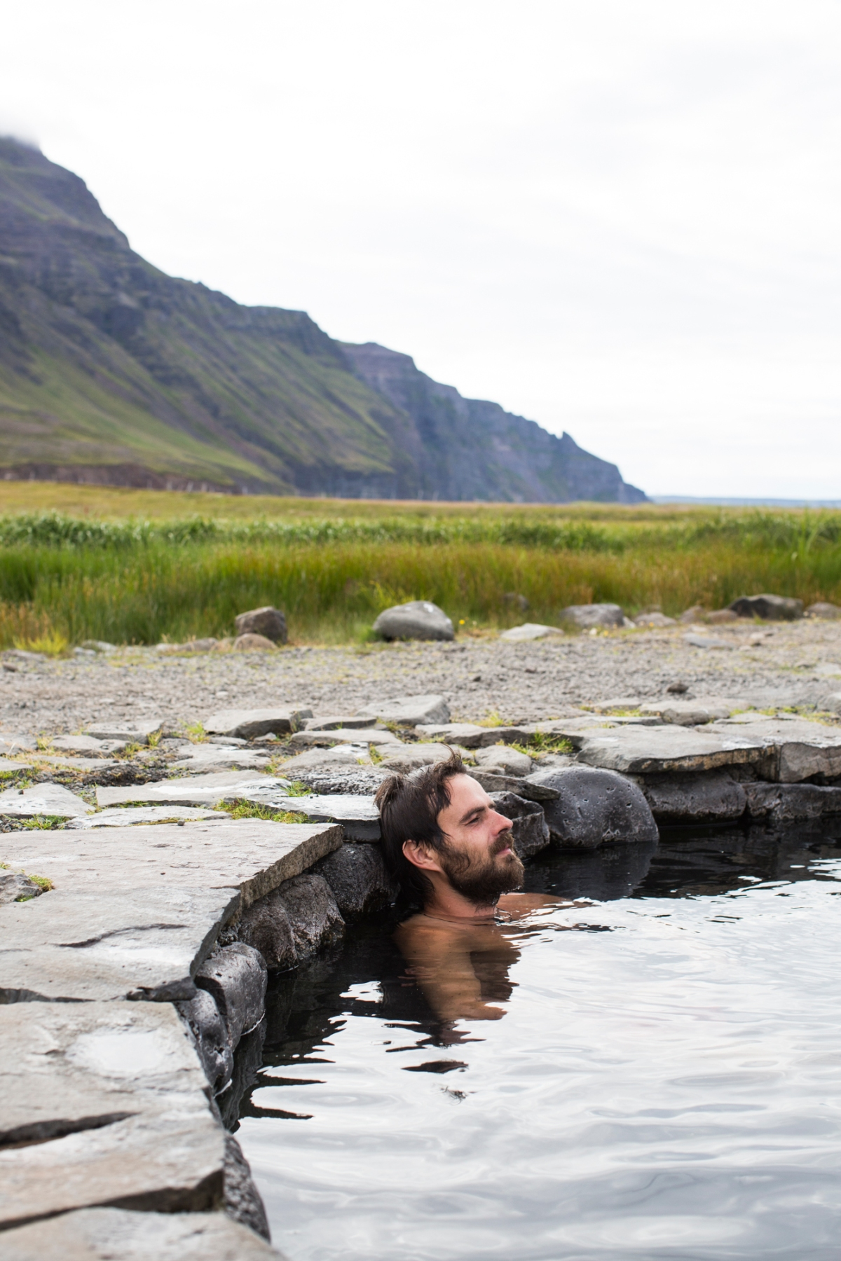 In hot water inIceland